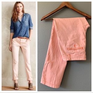 Anthropologie Pants - Anthro Pilcro & Letterpress Hyphen Chinos Pink 27